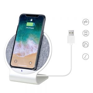 10W Dual Coil Aluminium Wireless Charging Stand